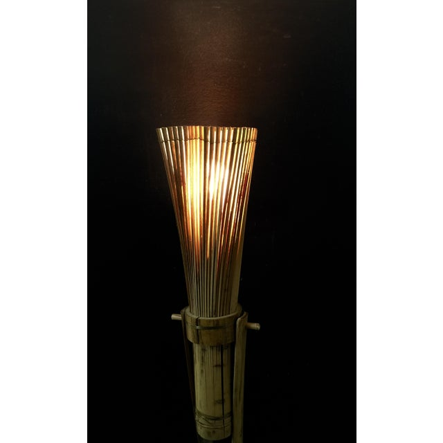 Vintage Bamboo Tiki Floor or Desk Lamp - Image 6 of 7