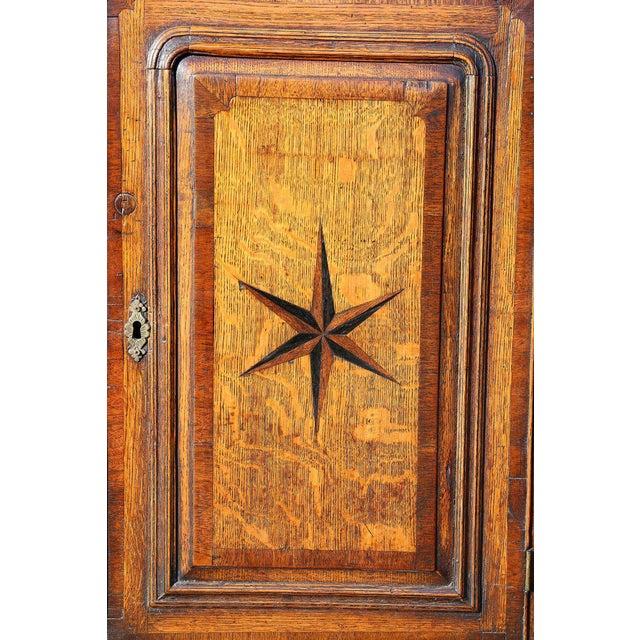 George III Oak And Inlaid Cupboard/ Dresser For Sale In Boston - Image 6 of 10