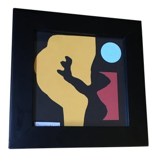 Original Shawn Leventhal Framed Abstract Collage For Sale