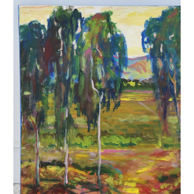 Late 20th Century Juan Guzman Plein Air Santa Barbara Eucalyptus Grove Painting For Sale - Image 5 of 10