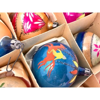 Large Christmas Vintage Hand-Painted Brite European Holiday Ornaments - Set of 12 Preview