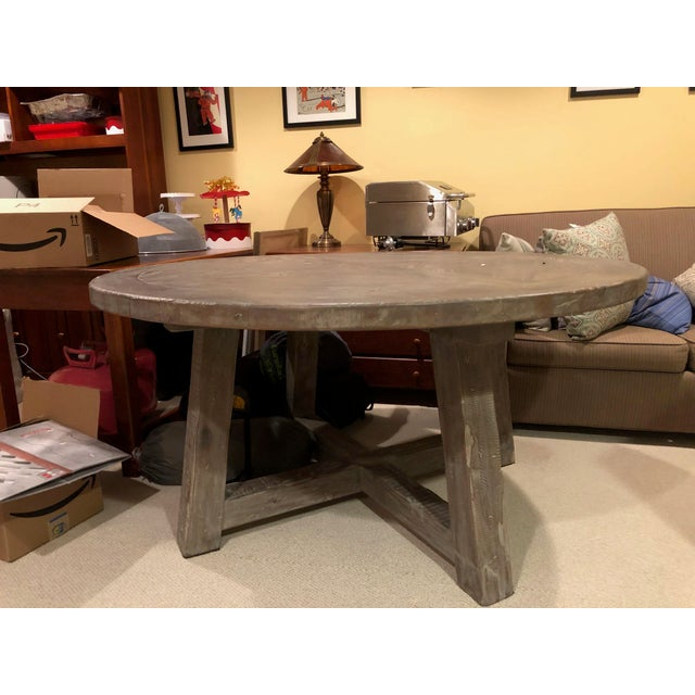 Rustic Restoration Hardware Round Dining Table