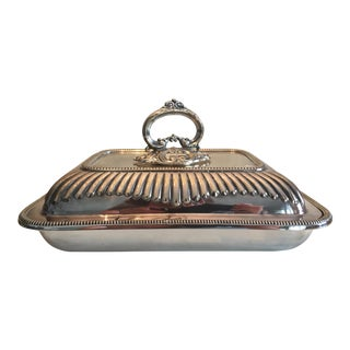 Antique Mappin & Webb English Silver Covered Vegetable Dish For Sale