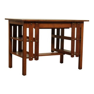 Cadillac Cabinet Co. Antique Mission Oak Writing Desk For Sale