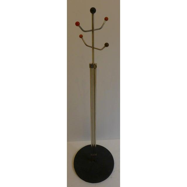 Slender Machine Age Hat Rack or Coat Rack - Image 3 of 10