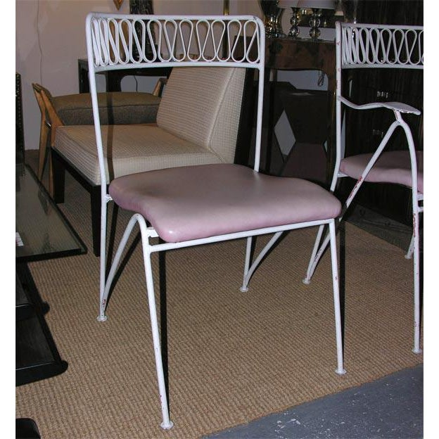 Cottage Tempestini for Salterini Wrought Iron Ribbon Chairs - Set of 14 For Sale - Image 3 of 10