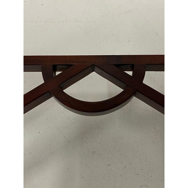 Carved Mahognay Console Table For Sale - Image 10 of 12