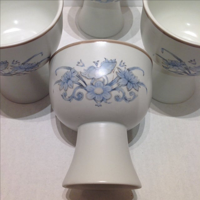 Royal Doulton Blue Flower Goblets - 6 - Image 4 of 6