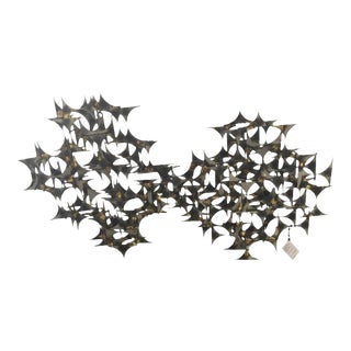 Mid Century Modern Metal Wall Sculpture For Sale