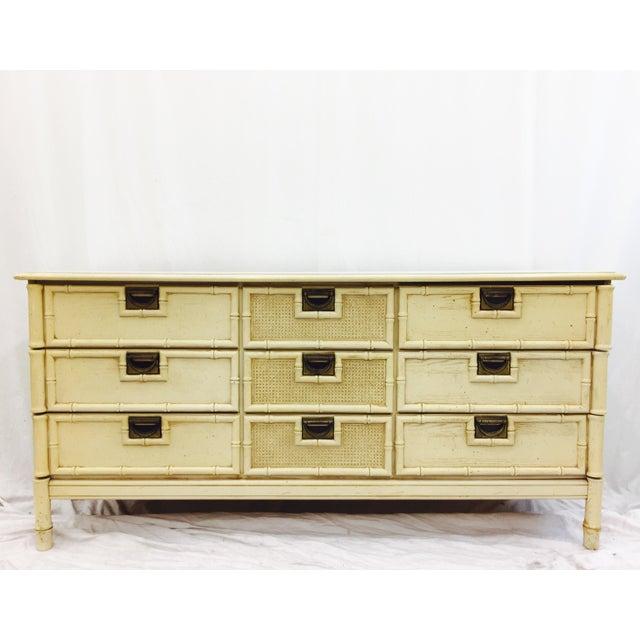 Vintage Faux Bamboo Dresser For Sale - Image 10 of 10
