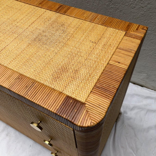 Rattan Cane and Wicker Chest of Drawers by Bielecky Brothers For Sale In New York - Image 6 of 13