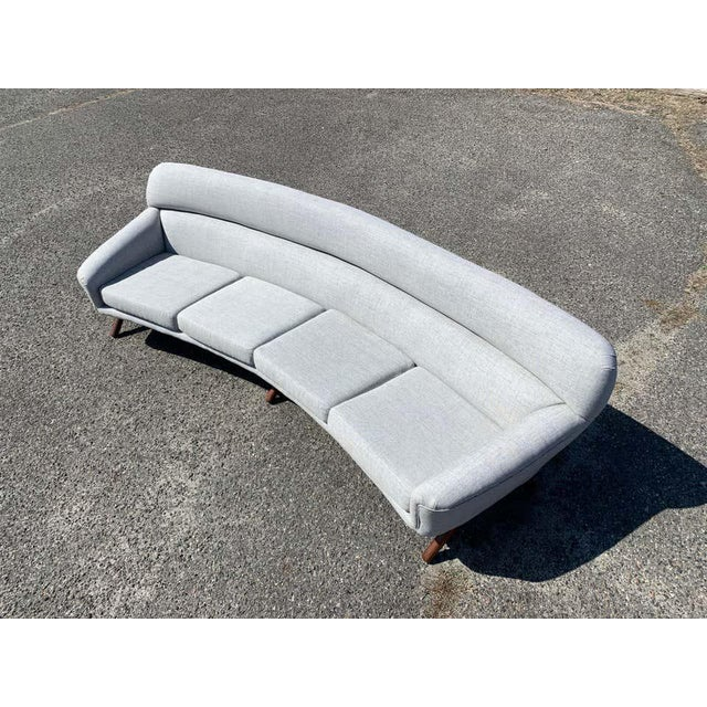 Illum Wikkelso-Mikael Laursen 4-Seat Sofa-Denmark, 1960s For Sale - Image 9 of 11