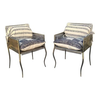 Chrome Mesh Nava Club Chairs- Pair