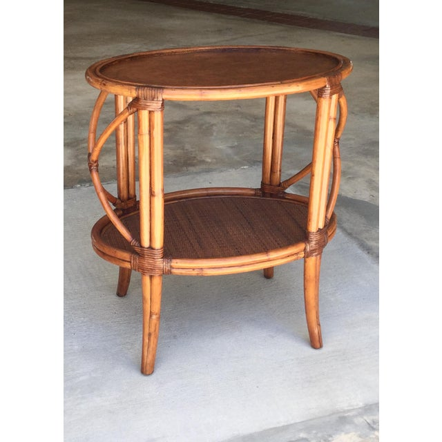 Ethan Allen Traditional Ethan Allen Tommy Bahama Style Bamboo Tray Table For Sale - Image 4 of 7