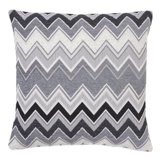 Schumacher Zenyatta Mondatta Pillow in Noir & Blanc For Sale
