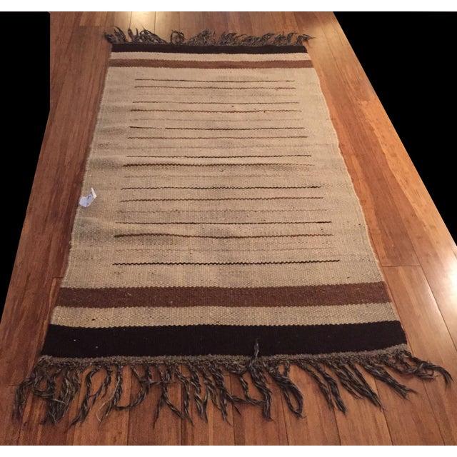 Vintage Moroccan Hand Woven Flatweave Rug - Image 2 of 8