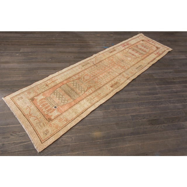 "Antique Khotan Runner- 2'8"" x 9'5"" - Image 2 of 7"