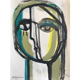 "Craig Greene ""Still Thinking"" Original Acrylic Painting For Sale"