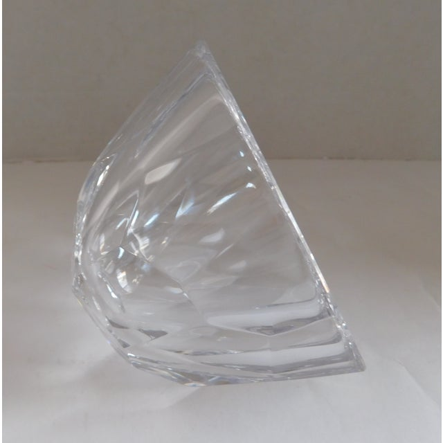 Crystal Orrefors Sweden Small Cut Crystal Bowl For Sale - Image 7 of 12