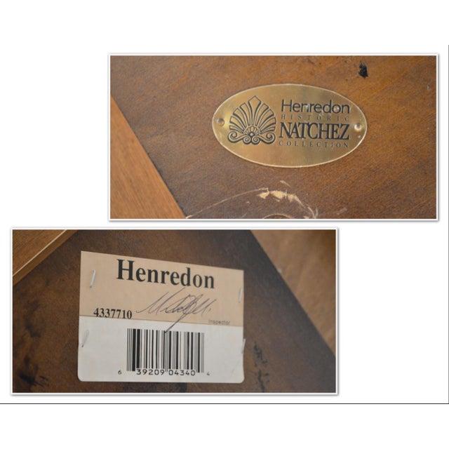 Hollywood Regency Henredon Historic Natchez Collection Flame Mahogany Regency Dining Table For Sale - Image 3 of 12