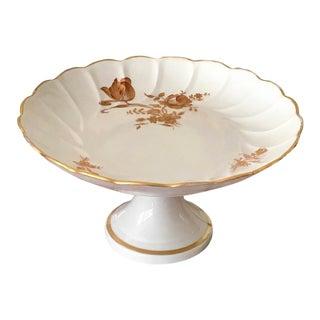 1980s Vintage Limoges Pedestal Plate