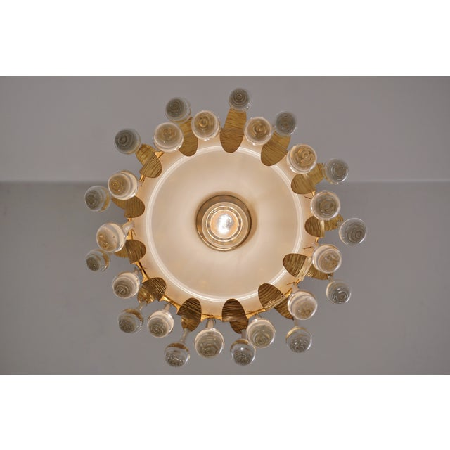 1970s Ernst Palme Pendants for Palwa Gilt Brass & Crystal, 1960's, German - a Pair For Sale - Image 5 of 13