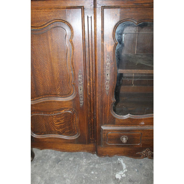 Early 19th Century 19th Century French Country Oak Dessert Buffet For Sale - Image 5 of 7