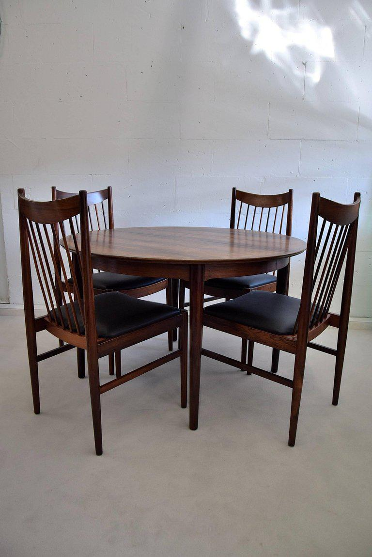 Arne Vodder Mid Century Rosewood Dining Room Set   Image 6 Of 11