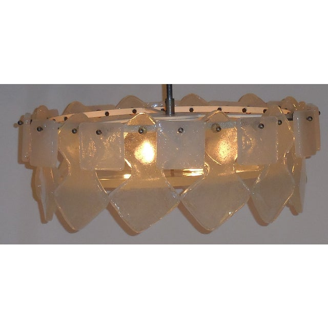 Vintage Frosted Chandelier - Image 3 of 10