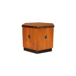 Mid Century Octagonal Side Table For Sale