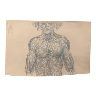 1990s James Bone Male Nude Drawing For Sale