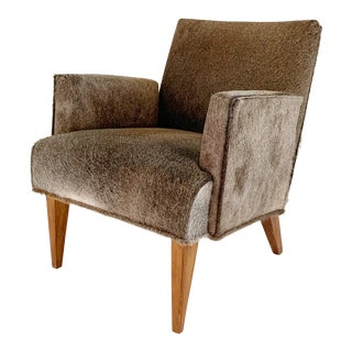 Modern Armchair in Brazilian Cowhide For Sale