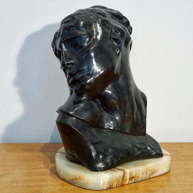"This is an A.Rodin Bronze Sculpture titled, ""Head of Lust."" French Museum Reissue 16 of 20 C.1970's Dimensions: H 14"" x W..."