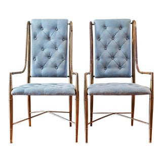 Mastercraft Brass Faux Bamboo Chairs - a Pair For Sale