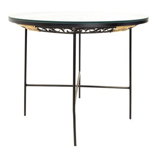 Mid-Century Modern Arthur Umanoff for Shaver Howard Glass & Metal Dining Table For Sale