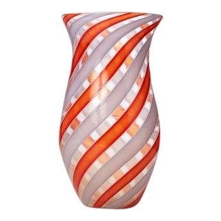 "Paolo Venini ""Zanfirico"" Murano Vase For Sale"