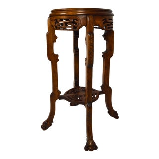 Japonisme Pedestal Table / Pot Stand For Sale
