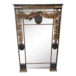 Maitland Smith Iron & Tessellated Mirror For Sale