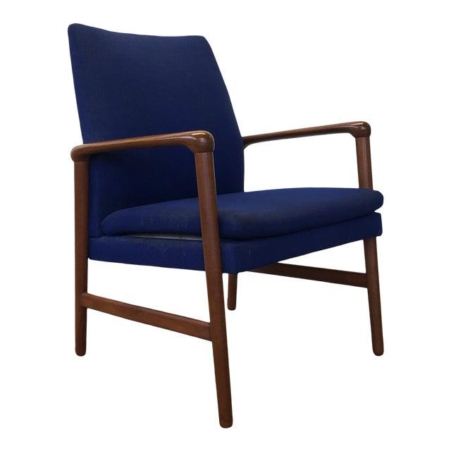 Mid-Century Fritz Hansen Danish Teak Armchair Lounge For Sale