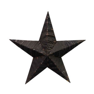 Amish Black Handmade Tin Star For Sale