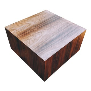 Milo Baughman for Thayer Coggin Rosewood Cube Coffee Table For Sale