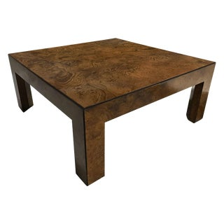 Large 1960s John Widdicomb Burl Elm Coffee Table