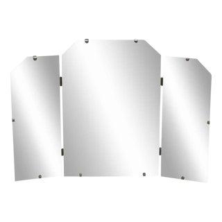Three Fold Deco Style Mirror For Sale