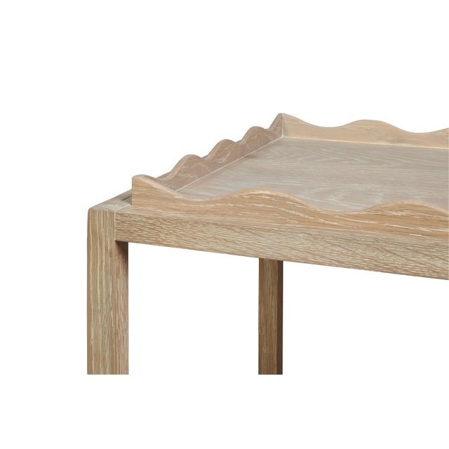 Modern Rita Konig for The Lacquer Company Belles Rives Nightstand Oak in Cerused Oak For Sale - Image 3 of 5