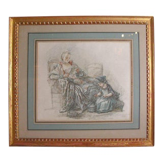 Framed Print of Mother and Child For Sale