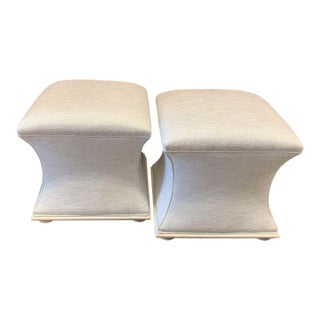 Henredon Moderne Seat Footstools - A Pair For Sale