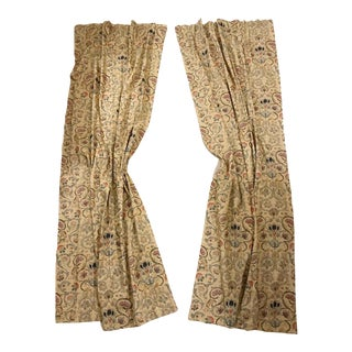 """Ralph Lauren """"Provence"""" Lined Drapes Panels - the Pair For Sale"""