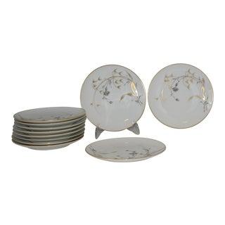 Vintage German Porcelain Heinrich & Co. Golden Harvest Dessert Dishes - Set of 11 For Sale