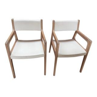 Contemporary De La Espada White Oak Deer Armchairs - a Pair For Sale