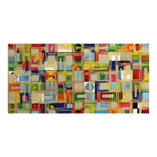 """Abstract Original Artwork, """"Color Pattern II 17_7"""" by Petra Ros-Nickel For Sale"""